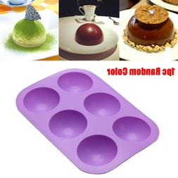 Silicone Half Sphere Ball Chocolate Mold Cake Decor Cupcake