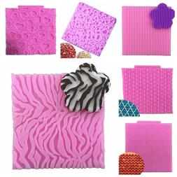 Silicone Knitting Fondant Mold Cake Texture Embossed Mat Dec