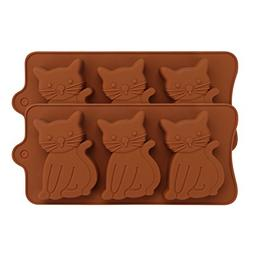 Cat Silicone Molds - 2-Pack - Beasea Cute Kitten,Cat Shaped