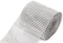 jollylife Silver Diamond Rhinestone Ribbon Wrap Bulk DIY Bli