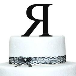 Buythrow Simple Custom Monogram Acrylic Cake Topper in Any L