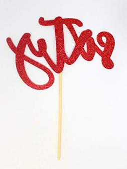 All About Details Sixty Cake Topper, 1pc, 60th birthday, 60t