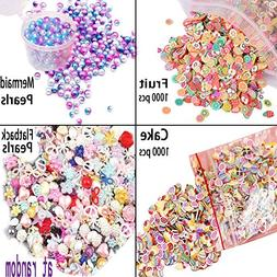 Mlambor Slime Supplies with 2000 Pcs 3D Polymer Fimo Slices