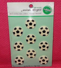 Soccer,Icing Decorations,Edible Cupcake Toppers,Wilton,9 cou