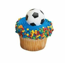 SOCCER RINGS PARTY CUPCAKE TOPPERS CAKE DECORATIONS SPORTS F