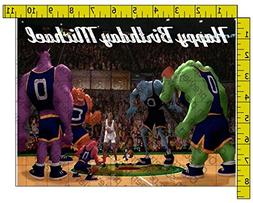 Space Jam Personalized Birthday Edible Frosting Image 1/4 sh