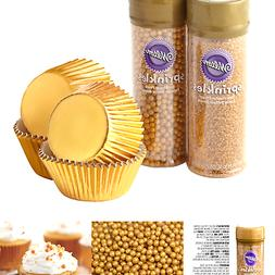 Wilton Gold Cupcake Decorating Kit, 4-Piece - Gold Baking Cu