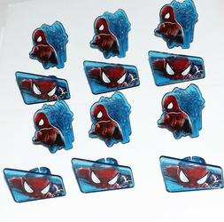 spiderman cupcake rings by cake decoration party