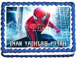 SPIDERMAN Edible Cake topper image party decoration