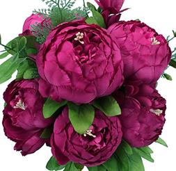 Duovlo Springs Flowers Artificial Silk Peony Bouquets Weddin