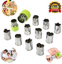 Yicol Vegetable Fruit Cookie Cutters Stainless Steel Moulds