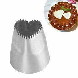 Stainless Steel Heart-shaped Cake Icing Piping Decor Dessert