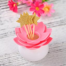 Star Cupcake Toppers Creative Dessert Table Glitter Cake Dec