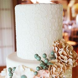 Star-Trade-Inc - Flower and leaf cake lace stencil cake deco