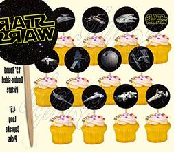 Party Over Here Star Wars Cupcake Picks Space Ships Spaceshi