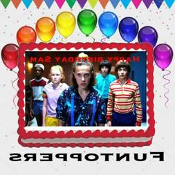 Stranger Things Edible Cake Topper Image Decoration Party Fr