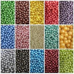 Sugar Pearls Balls Cake Decorating Edible Cupcakes Wedding