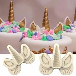 Sugarcraft Unicorn Silicone Mold Fondant Cake Decorating Too