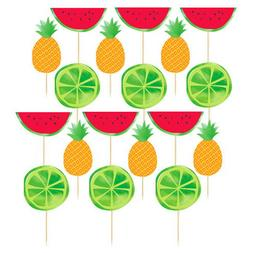 SUMMER FRUIT CUPCAKE TOPPERS  ~ Birthday Party Supplies Cake