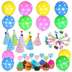 48Pcs Party Supplies for Kids Birthday Party Supplies Rainbo