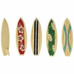 Surfboard Cake Decorations or Cupcake Toppers - 24 pcs