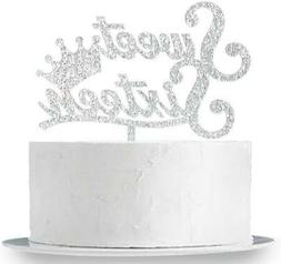 Sweet 16 Cake Topper SILVER Crown Sixteen 16Th Birthday Part