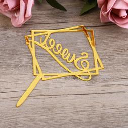 Sweet Acrylic Cake Topper Double-layer Square Cake Topper Ca