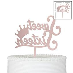 Sweet Sixteen Cake Topper For 16Th Birthday Decorations Anni