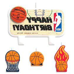 Amscan Sports and Tailgating NBA Party Birthday Cake Candle,
