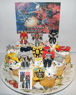 Transformers Deluxe Mini Cake Toppers Cupcake Decorations Se