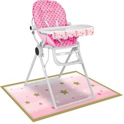 2pc Twinkle Little Star Girls Happy 1st Birthday Party High