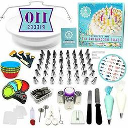 NEW!!! 110pc Ultimate Cake Decorating Supplies Kit, Rotating