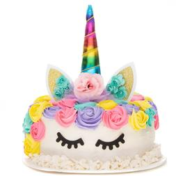 Unicorn Cake Topper Birthday Party Decoration, Cake Topper a