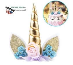 UNICORN HORN CAKE TOPPER Birthday Baby Shower  Decorations W