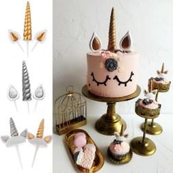 Unicorn Horns Cake Topper Birthday & Baby Shower Kids Party