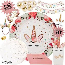 Unicorn Party Supplies | Complete Unicorn Birthday Party Set
