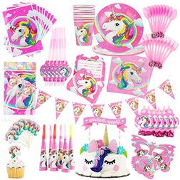 Unicorn Party Supplies Set-Kids Birthday Party-Girls Party S