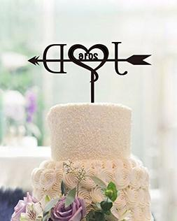 Unique Wedding Cake Toppers Letter Personalized Initials wit
