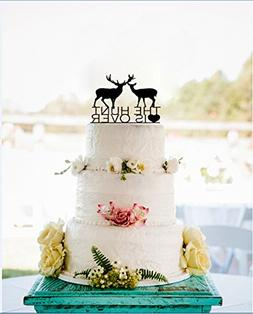 Unqiue Couples Deer Wedding Cake Toppers The Hunt is Over Ca