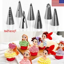 US 7Pcs Russian Tulip Flower Cake Icing Piping Nozzle Decor