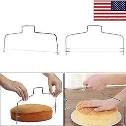 US Adjustable Wire Cake Slicer Cutter Leveller Decorating Br