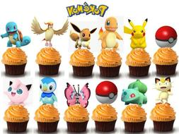 USA SELLER 12PC POKEMON CUPCAKE TOPPERS PARTY DECORATIONS CA