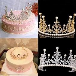 USA Vintage Gold Crown Cake Topper Queen Princess Cake Photo