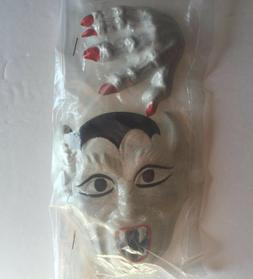 Vintage Wilton Cake Decorations Plastic Dracula Face and Han