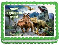 WALKING DINOSAURS Party Edible cake topper image decoration