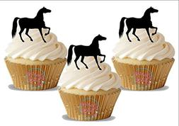 Walking Horse Black Silhouette 12 Standup Edible Premium Waf