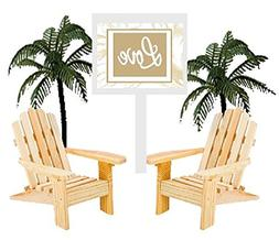 Wedding Anniversary Rustic Wood Unfinished Beach Chair Cake