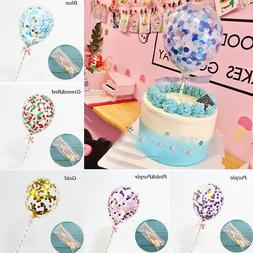 wedding birthday party balloon cake topper cake