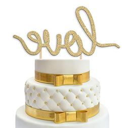 "Wedding Cake Topper Decoration - LOVE - 6.75"" x 3.75"" Double"