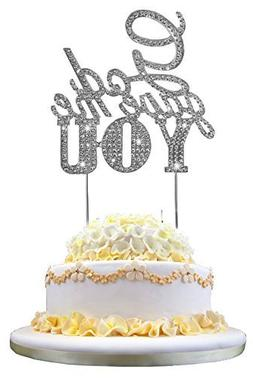 Tinksky Wedding Cake Topper God Gave Me You Sparkle Rhinesto